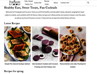 pineappleandcoconut.com screenshot