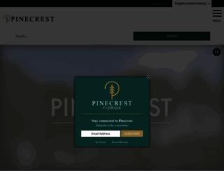 pinecrest-fl.gov screenshot