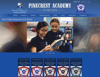 pinecrestnv.org screenshot
