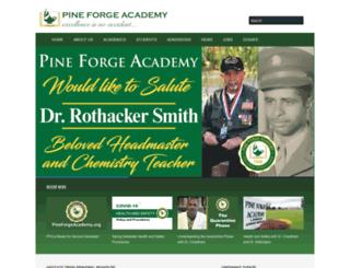 pineforgeacademy.org screenshot