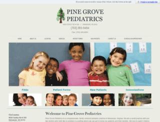 pinegrovepeds.com screenshot