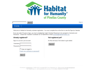 pinellashfh.volunteerhub.com screenshot