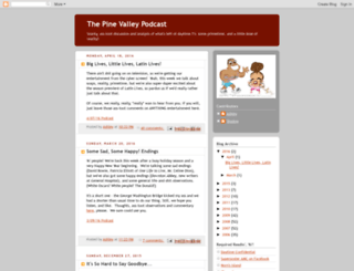 pinevalleypodcast.blogspot.com screenshot