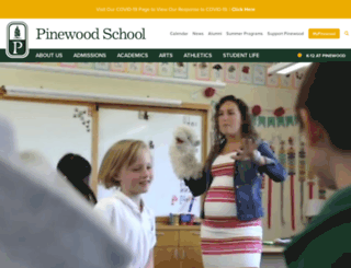pinewood.edu screenshot