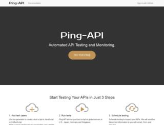 ping-api.com screenshot