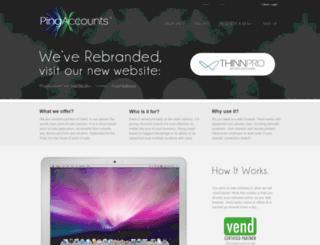 pingaccounts.co.za screenshot