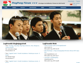 pingpongforum.hu screenshot