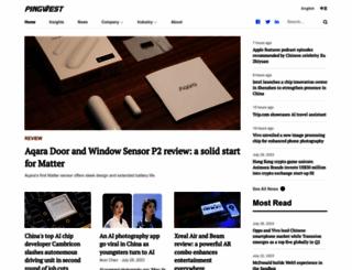 pingwest.com screenshot