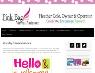 pinkbagvirtualassistant.net screenshot