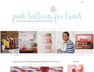 pinkballoons4lunch.com screenshot