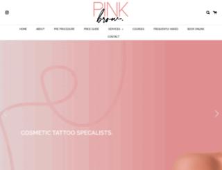 pinkbrow.com.au screenshot
