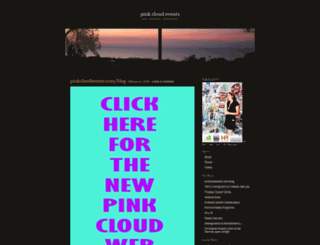 pinkcloudevents.wordpress.com screenshot