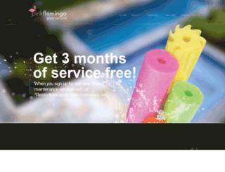 pinkflamingopoolservice.com screenshot