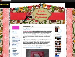 pinkflannelpajamas.blogspot.com screenshot