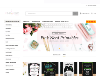 pinknerdprintables.com screenshot