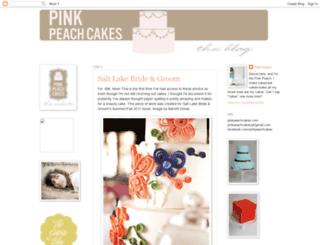 pinkpeachcakes.blogspot.com screenshot