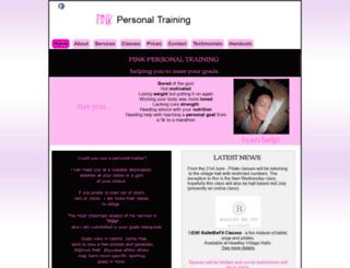 pinkpersonaltraining.co.uk screenshot
