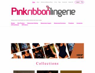 pinkribbonlingerie.co.uk screenshot