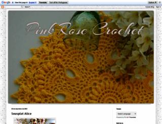 pinkrosecrochet.blogspot.com screenshot