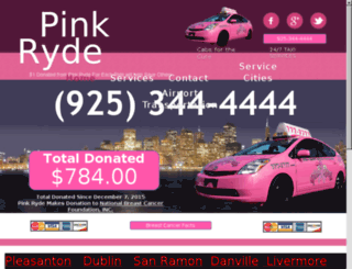 pinkryde.com screenshot