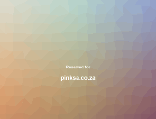 pinksa.co.za screenshot
