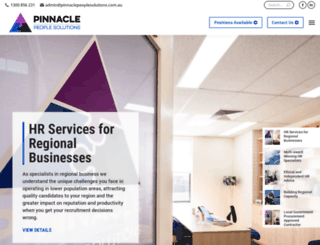 pinnaclepeoplesolutions.com.au screenshot