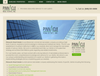 pinnaclere.com screenshot