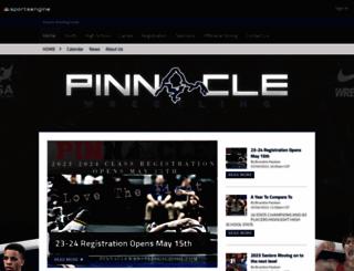 pinnaclewrestlingschool.com screenshot