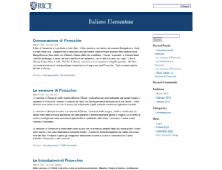 pinocchio.blogs.rice.edu screenshot