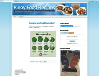 pinoyfoodrecipe.blogspot.com screenshot