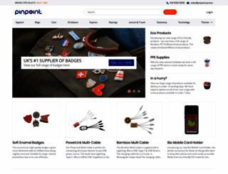 pinpointbadges.com screenshot