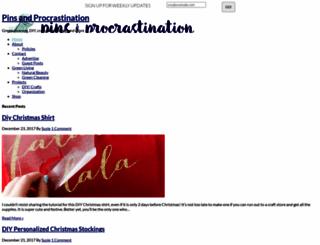 pinsandprocrastination.com screenshot