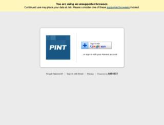 pint.harvestapp.com screenshot