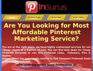 pinterestgurus.com screenshot