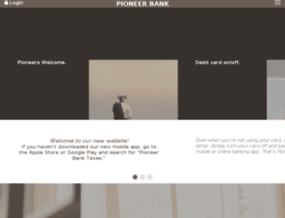 pioneerbanktexas.com screenshot