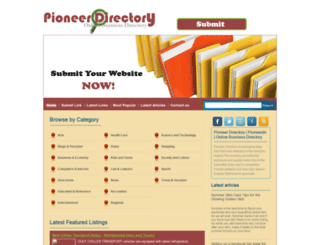 pioneerdir.com screenshot