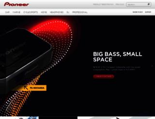 pioneerelectronics.ca screenshot