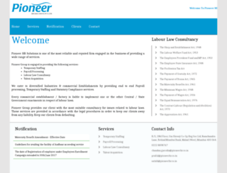 pioneerhr.co.in screenshot