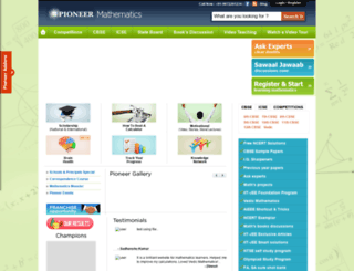 pioneermathematics.com screenshot