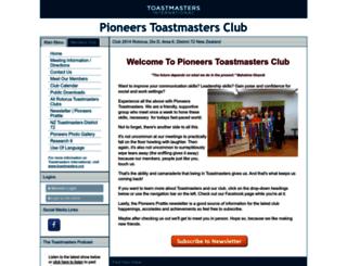 pioneers.toastmastersclubs.org screenshot