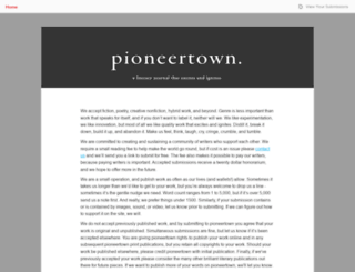 pioneertown.submittable.com screenshot