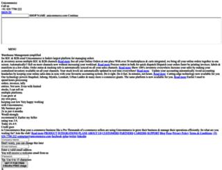 pious.unicommerce.com screenshot