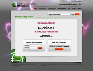 pipeto.ws screenshot