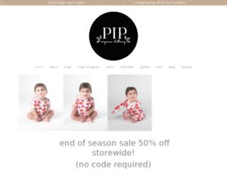 piporganicclothing.com.au screenshot