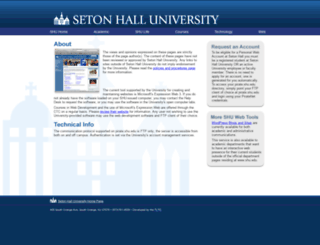 pirate.shu.edu screenshot