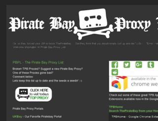 piratebayproxylist.com screenshot