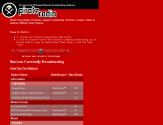 pirateradionetwork.com screenshot