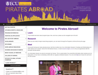 piratesabroad.ecu.edu screenshot