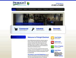 pirbrightelectrical.com screenshot
