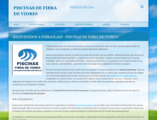 piscinasfibradevidrio.cl screenshot